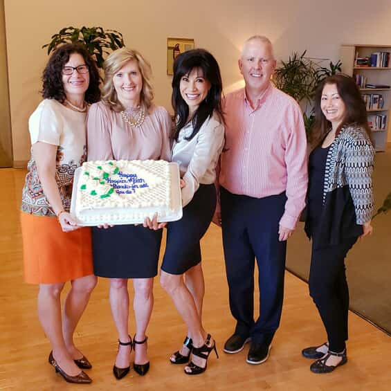 Homewatch CareGivers of Phoenix celebrate hospice month with a cake