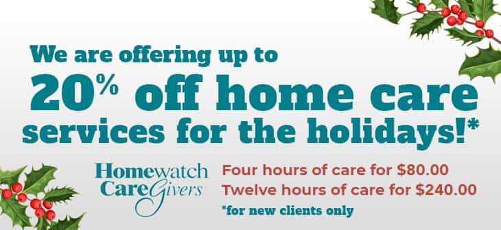 Homewatch CareGivers Fairfax Holiday Prices