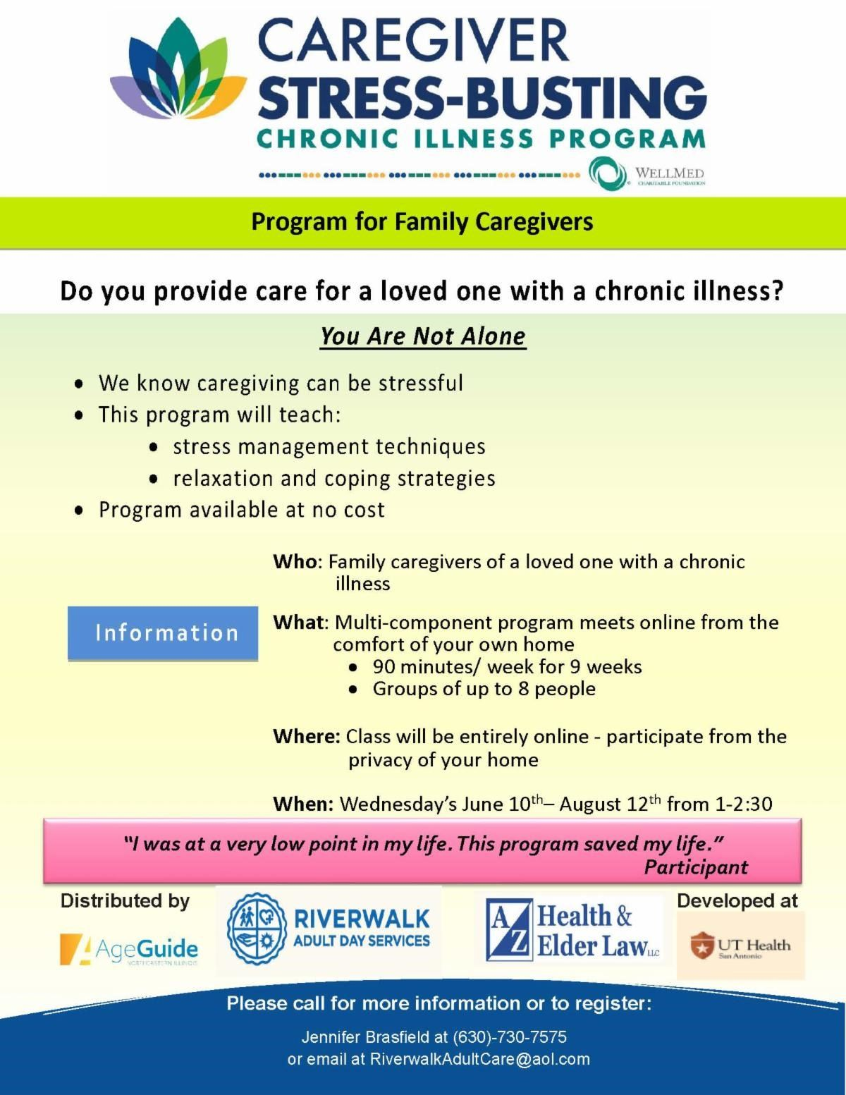 Free Stress Busting seminar for Family Caregivers