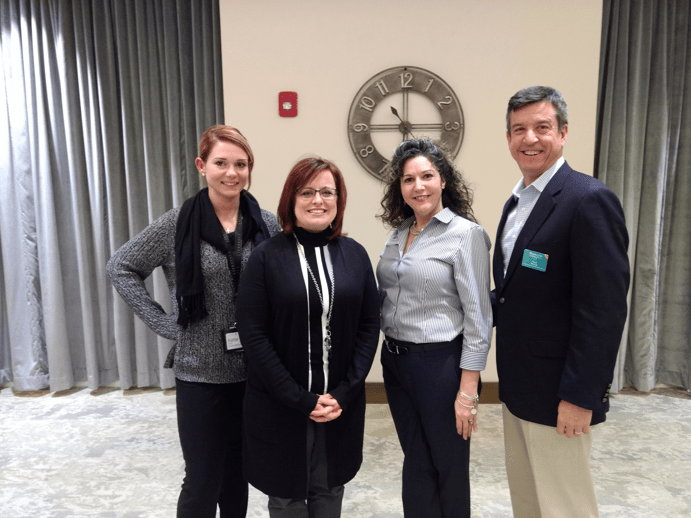 Katie Guy, Kerry Quirin, Colleen T, and Paul Beach at A CEU Presentation held at Oak Trace